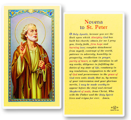 Image of ST. PETER NOVENA PRAYER HOLY