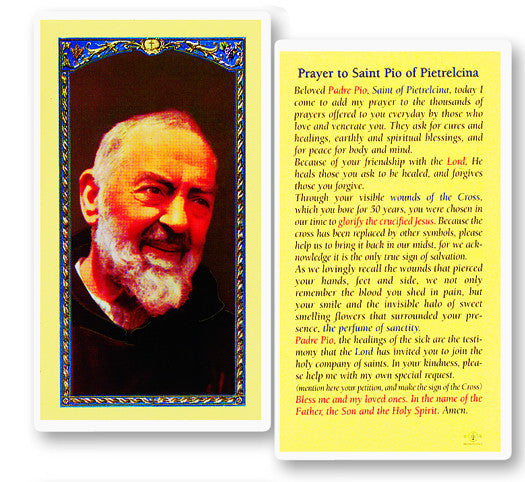 Image of PRAYER TO ST PIO OF PIETRELCI