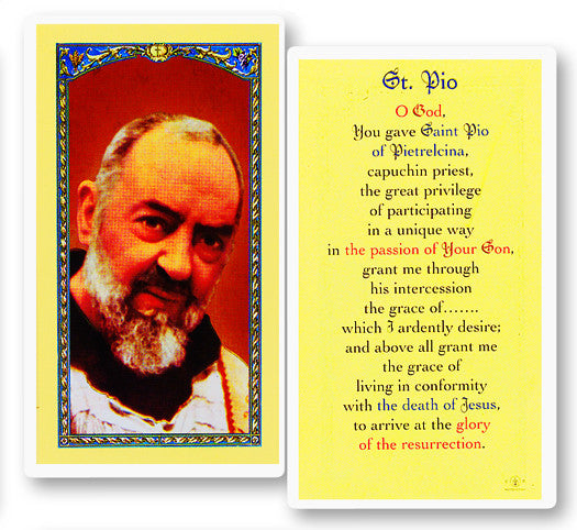 Image of PRAYER TO ST PIO