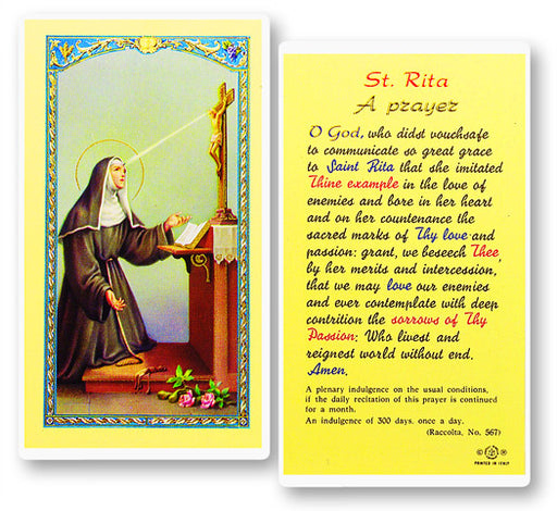 Image of PRAYER TO ST. RITA
