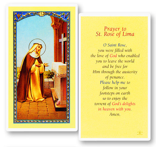 Image of PRAYER TO ST ROSE OF LIMA