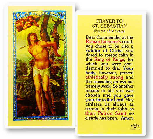 Image of PRAYER TO ST. SEBASTIAN HOLY