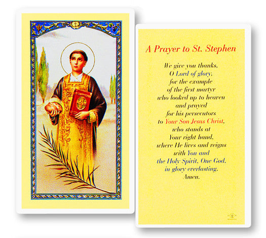 Image of PRAYER TO ST STEPHEN