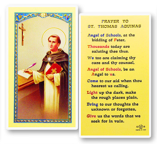 Image of PRAYER TO ST. THOMAS AQUINAS