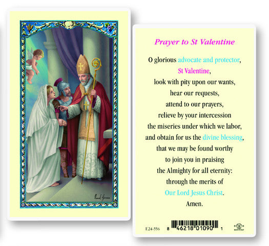 Image of ST VALENTINE DAY HOLY CARD