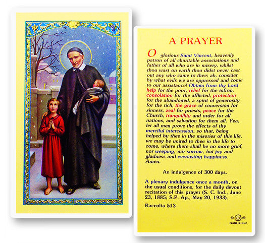 Image of PRAYER TO ST. VINCENT DE PAUL