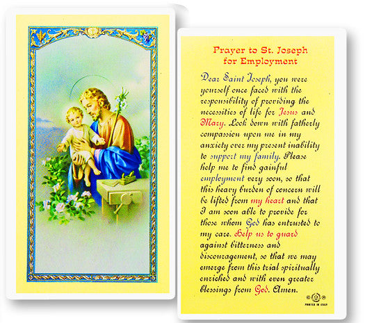 Image of ST JOSEPH-EMPLOYMENT PRAYER