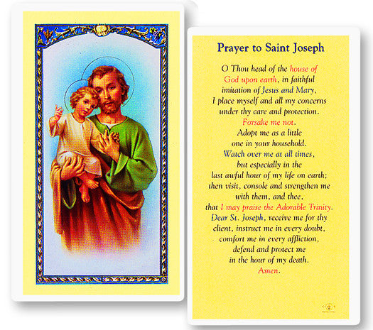 Image of PRAYER TO ST JOSEPH