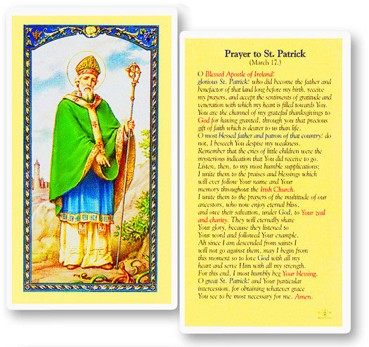 Image of PRAYER TO ST PATRICK