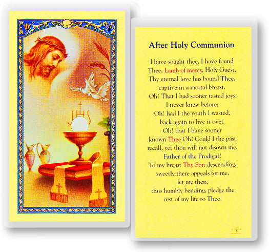 Image of PRAYER AFTER HOLY COMMUNION