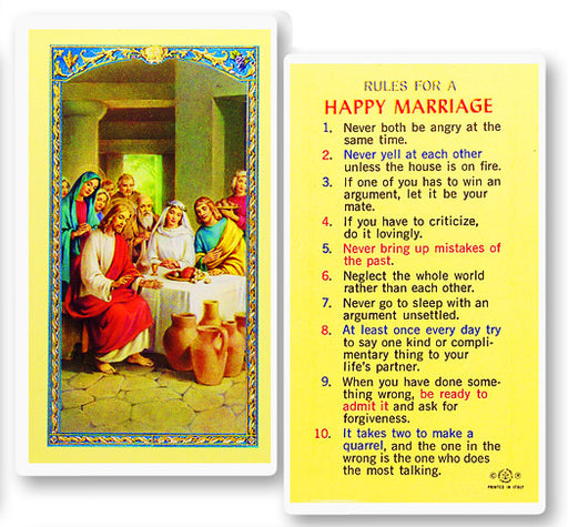 Image of RULES FOR A HAPPY MARRIAGE HOLY