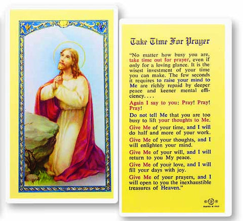 Image of TAKE TIME FOR PRAYER HOLY CARD