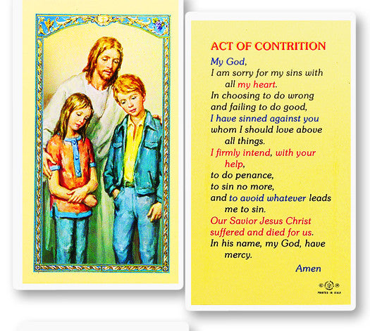 image regarding Act of Contrition Prayer Printable called Act Of Contrition Prayer Card Totally free Mail $49+ Catholic On the internet Searching