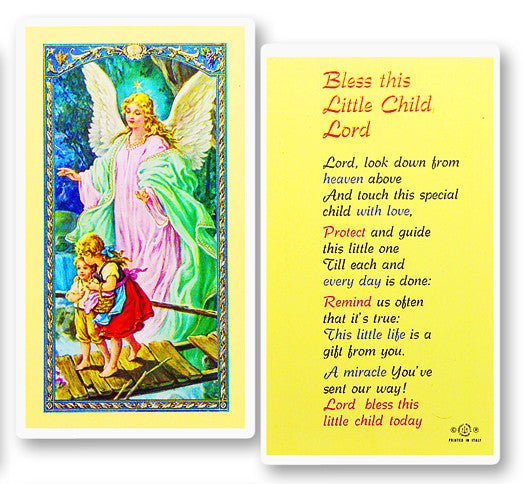 bless_this_little_child_holy_card