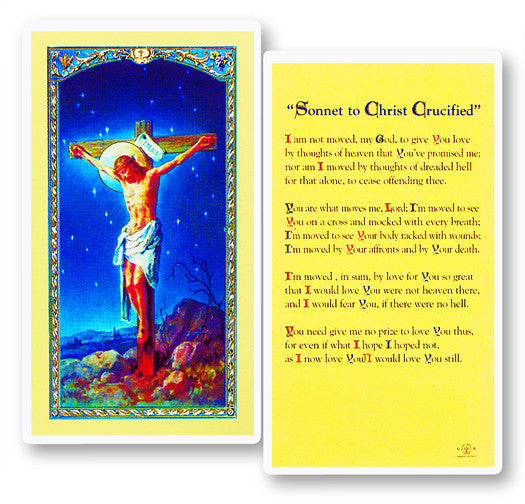 Image of SONNET TO CHRIST CRUCIFIED