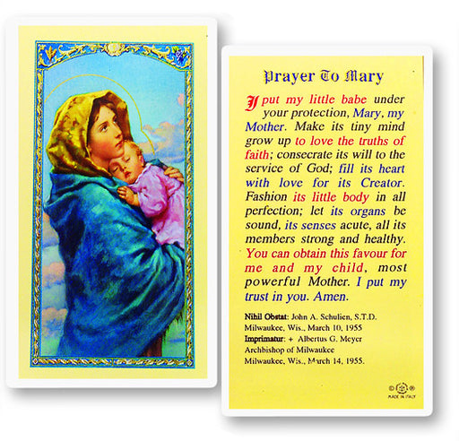 Image of PRAYER TO MARY-MADONNA OF STR