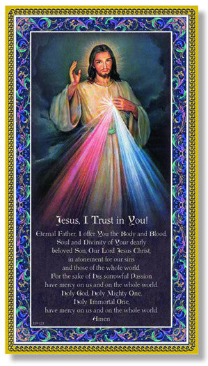 "Image of 5""X9"" DIVINE MERCY PLAQUE"