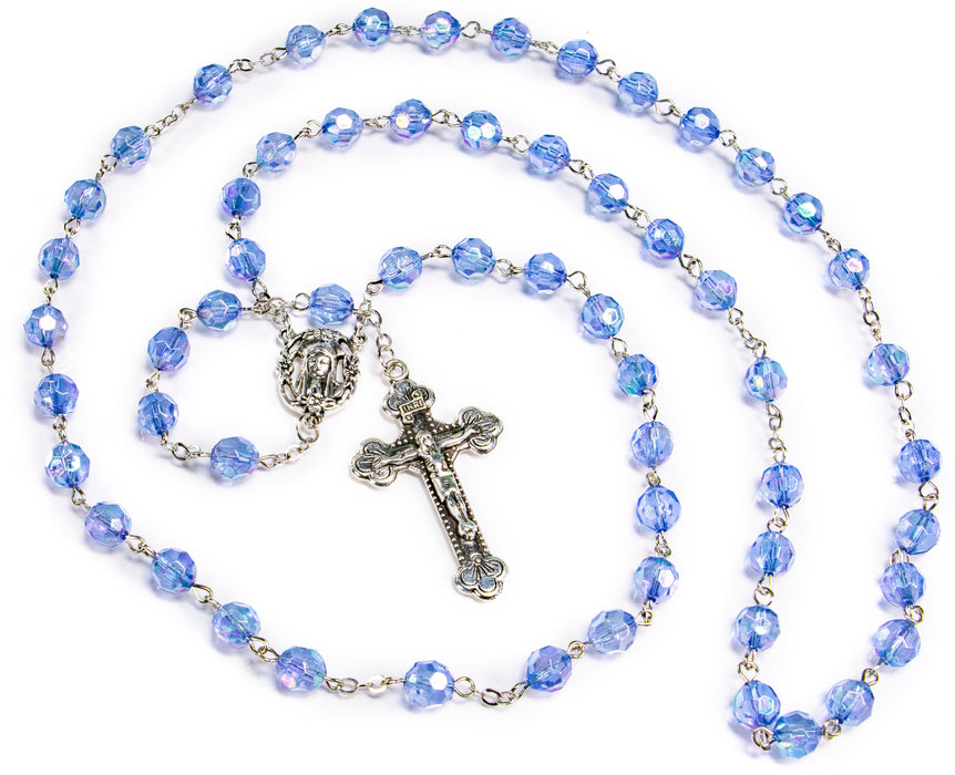 Full view of December - Zircon Birthstone Rosary
