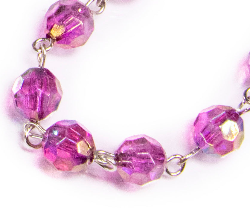 February - Amethyst Birthstone Rosary beads