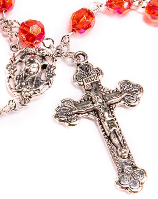 July - Ruby Birthstone Rosary