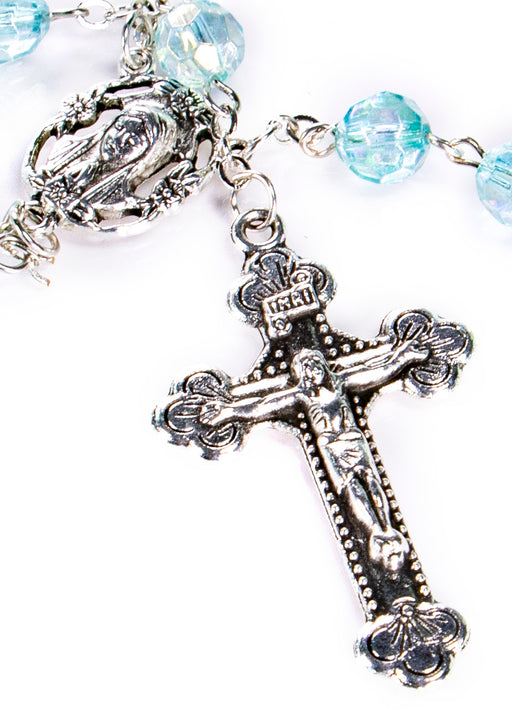 March - Aquamarine Birthstone Rosary