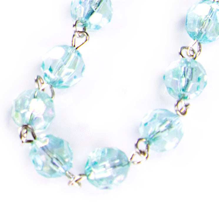 March - Aquamarine Birthstone Rosary beads