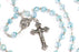 Close up of March - Aquamarine Birthstone Rosary