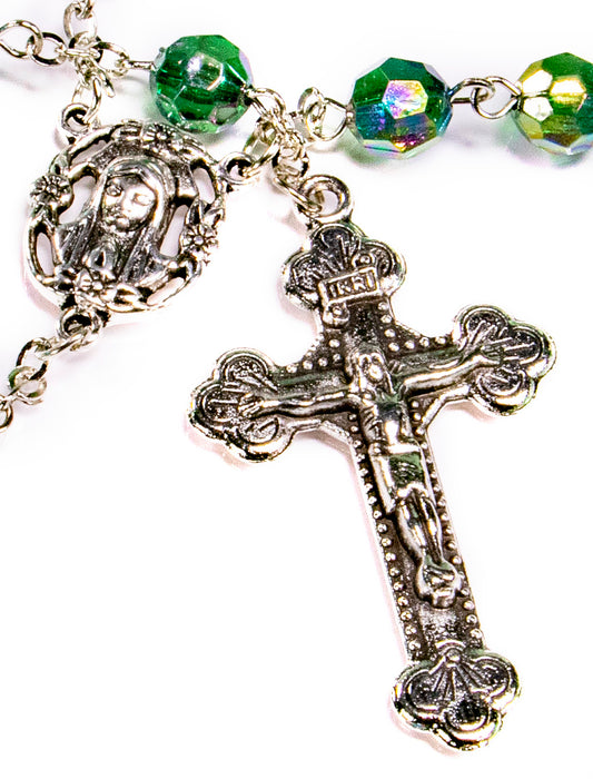 May - Emerald Birthstone Rosary