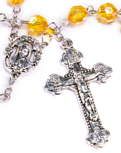November - Topaz Birthstone Rosary