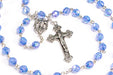 Close up of September - Sapphire Birthstone Rosary