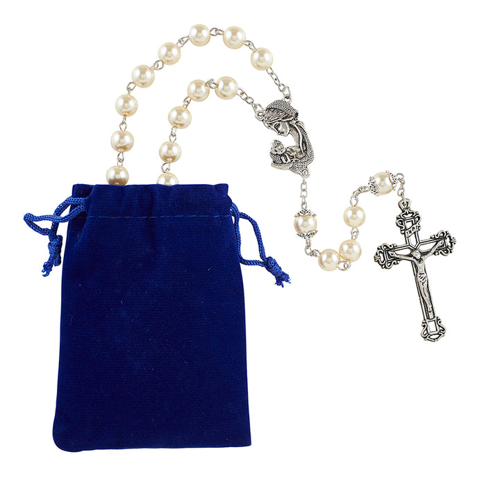 Madonna & Child Pearl Rosary