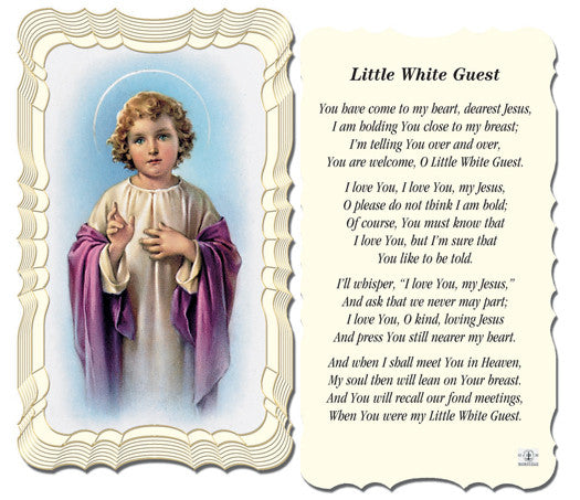 little_white_guest_holy_card