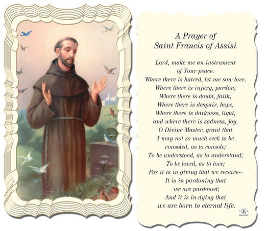 Image of ST FRANCIS OF ASSISI PRAYER