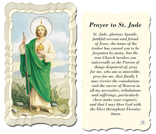 Image of PRAYER TO ST JUDE HOLY CARD