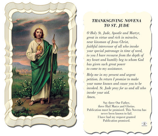 Image of ST.JUDE HOLY CARD