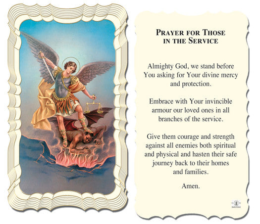 st_michael_military_holy_card
