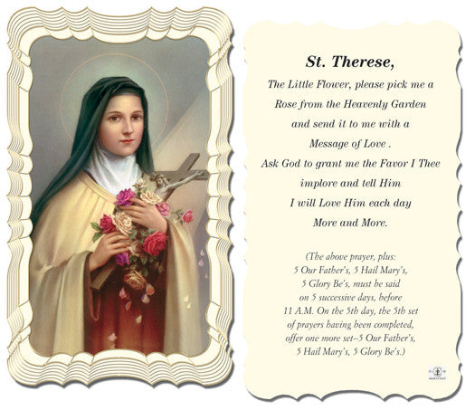 St Therese Holy Card Free Ship 49 Catholic Online
