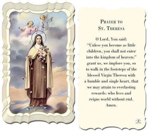 Image of PRAYER TO ST THERESE HOLY CARD
