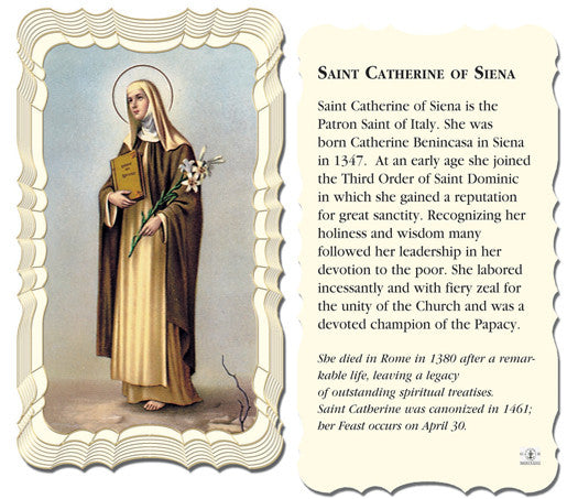 Image of ST.CATHERINE OF SIENA HOLY CARD