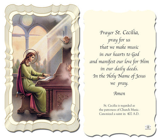 Image of ST.CECILIA HOLY CARD