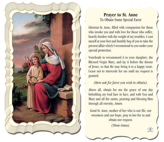 Image of ST.ANNE HOLY CARD