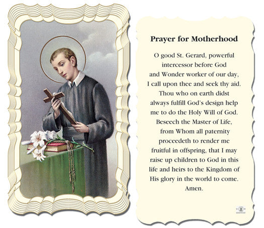 Image of PRAYER FOR MOTHERHOOD HOLY CARD