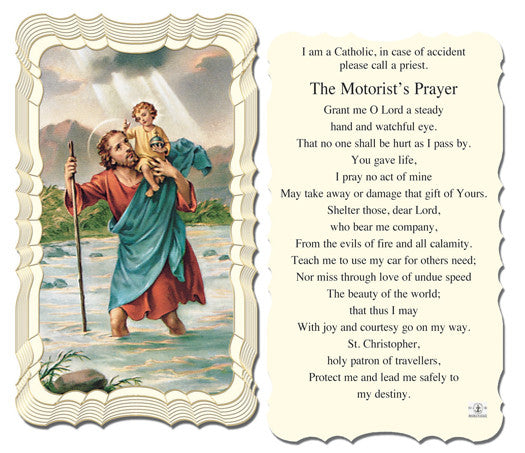 Image of ST.CHRISTOPHER HOLY CARD