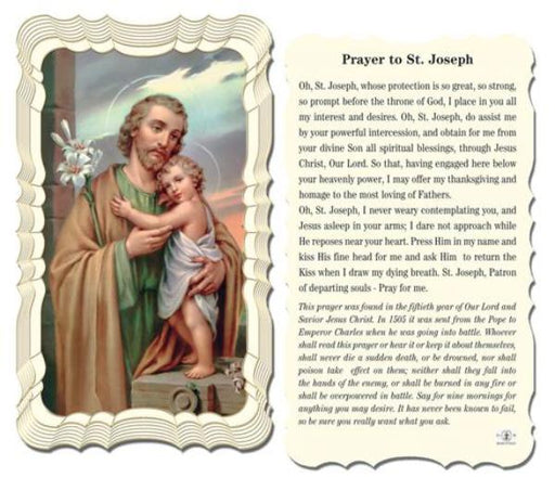 picture about Printable Prayer to St. Joseph referred to as Prayer Playing cards Catholic On-line Browsing