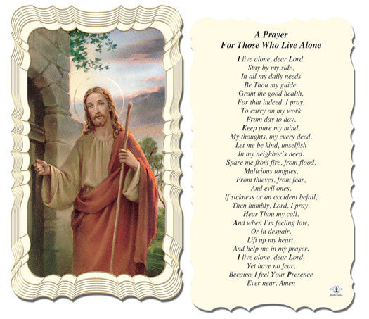 Image of PRAYER FOR THOSE WHO LIVE ALONE