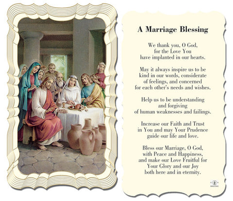 Image of A MARRIAGE BLESSING HOLY CARD