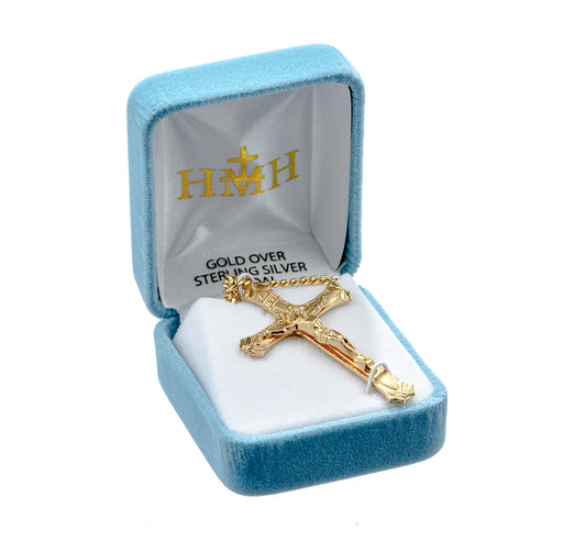 Gold Over Sterling Silver Crucifix Pendant