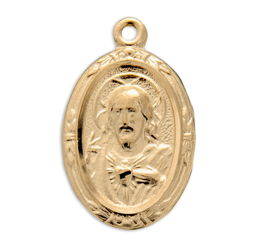 Scapular Gold over Sterling Silver Medal