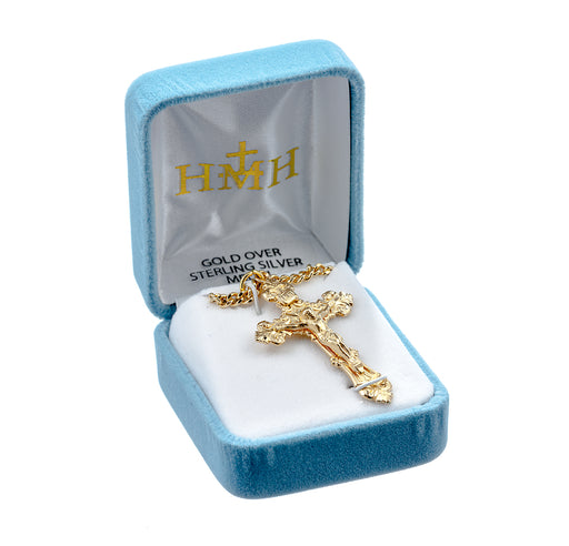 Gold Over Sterling Silver Crucifix