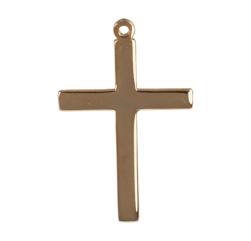 Plain Cross Gold Over Sterling Silver Pendant